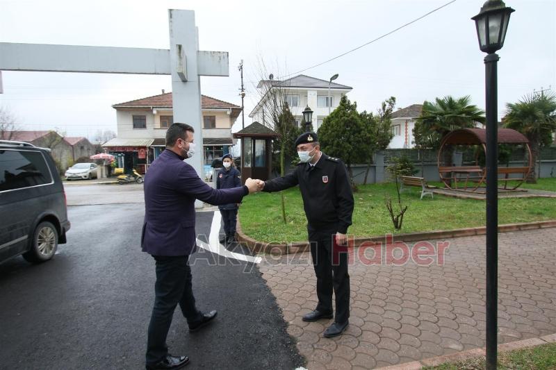 Başkan Soykan'dan İlçe Jandarma Komutanı'na ziyaret