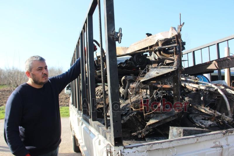 Akülü aracı yanmıştı, Başkan Soykan'dan yardım istedi