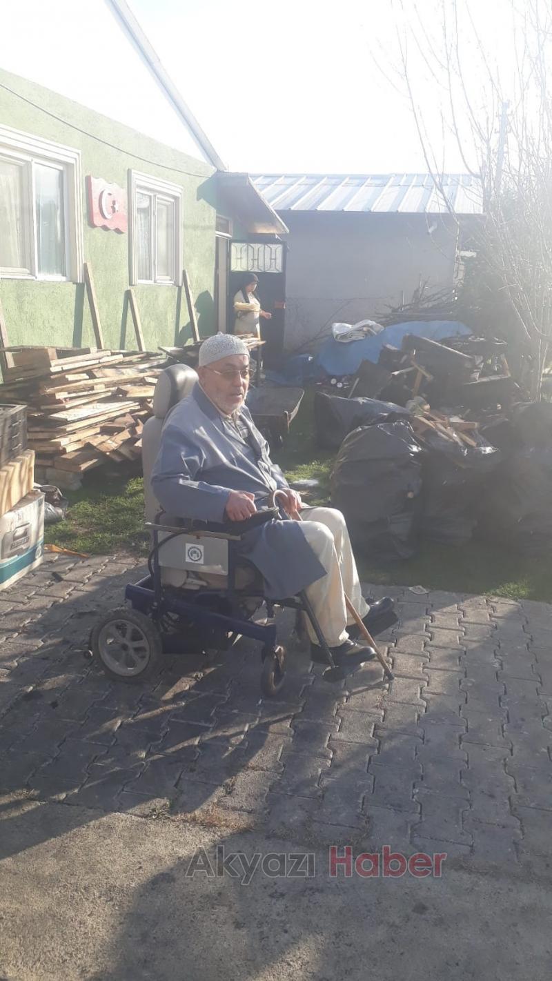 Emekli imamın akülü araç isteğini yerine getirdi