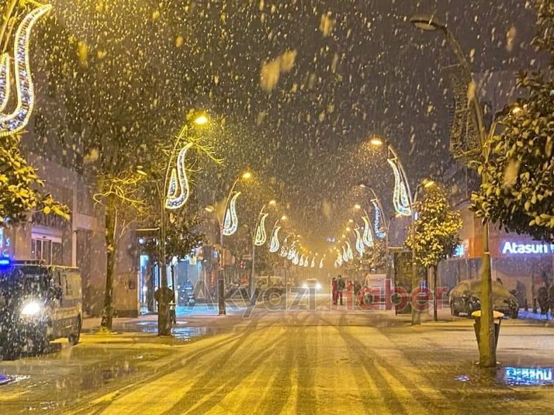 Akyazı'dan kar manzaraları